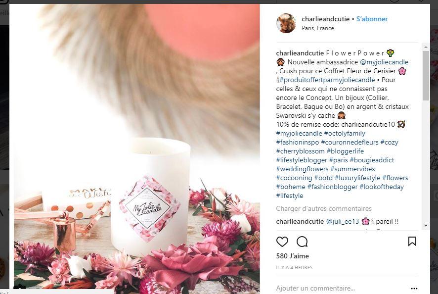 Exemple influenceur Instagram