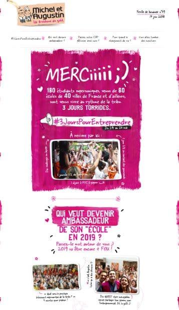 Newsletter Michel & Augustin 2
