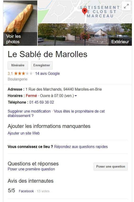 requette locale Google